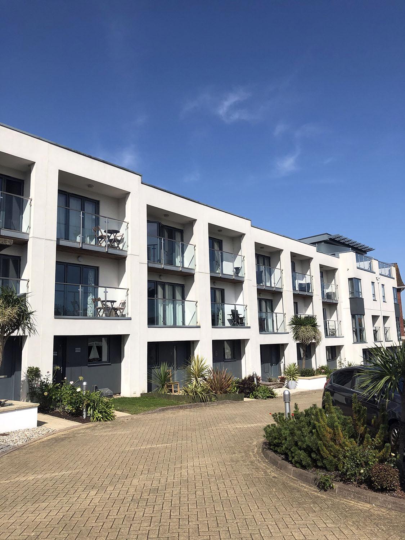 White modern apartments